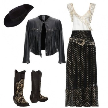 Outfit Cowgirl in black!