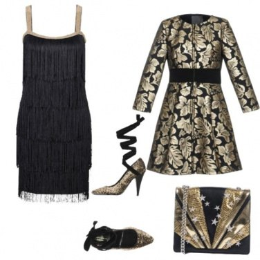 Outfit Natale in oro