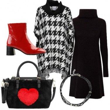 Outfit Cuori e quadri