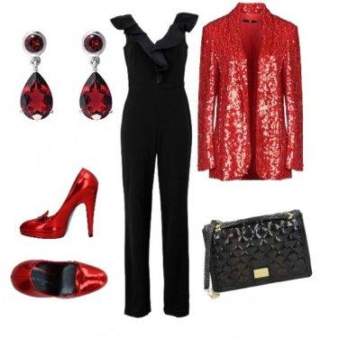 Outfit Rosso scintillante
