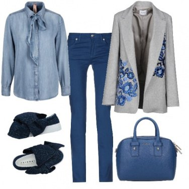 Outfit In blue jeans