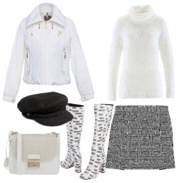 Outfit Principe di Galles e bianco