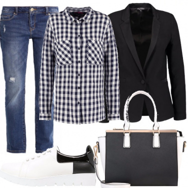 Outfit Casual a scacchi