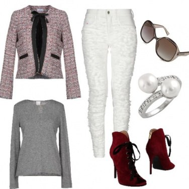 Outfit In tacchi bordeaux