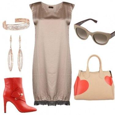 Outfit Bon ton accessori rossi