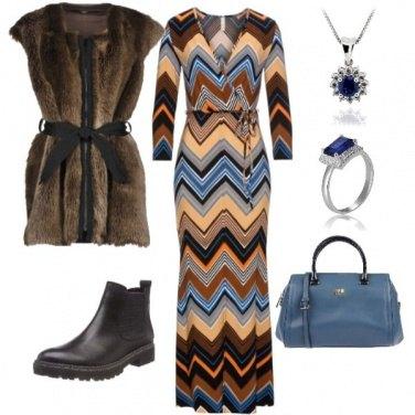 Outfit Dinamicità...morbidezza e..blue jewels