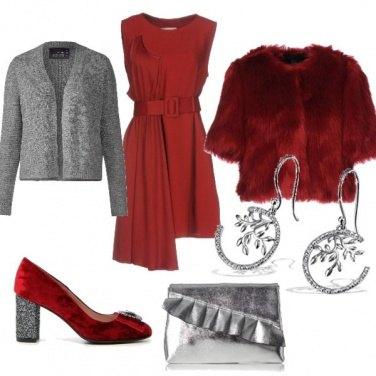 Outfit Rosso e Argento