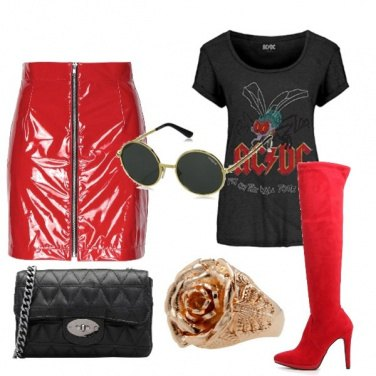 Outfit Street style Rock