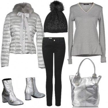 Outfit Piumino con fiocco