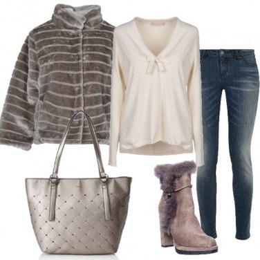 Outfit In centro per lo shopping natalizio