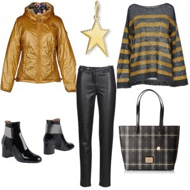 Outfit Piumino invernale gold