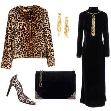 Outfit Leopardo vellutato