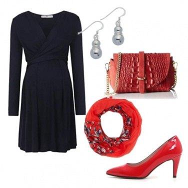 Outfit Premaman in rosso e nero