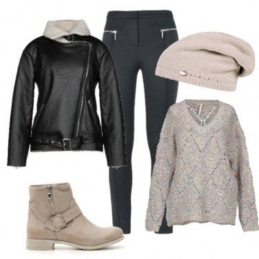 Outfit Biker e pullover