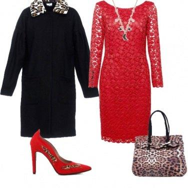 Outfit Natale in rosso e nero