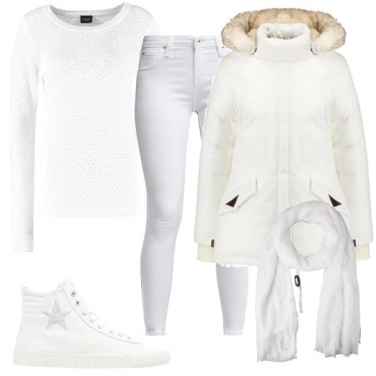 Outfit Bianco neve