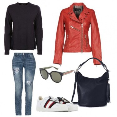 Outfit Chiodo rosso