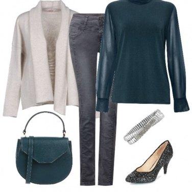 Outfit La scarpa brillante col jeans