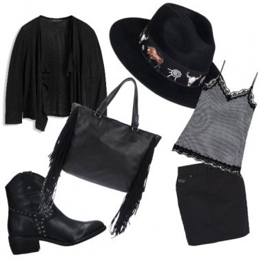 Outfit Black countrygirl