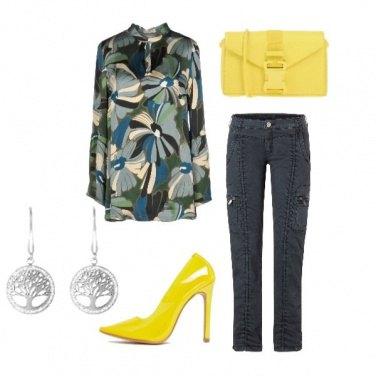 Outfit Giallo flou