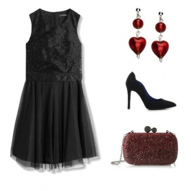 Outfit Natale col cuore