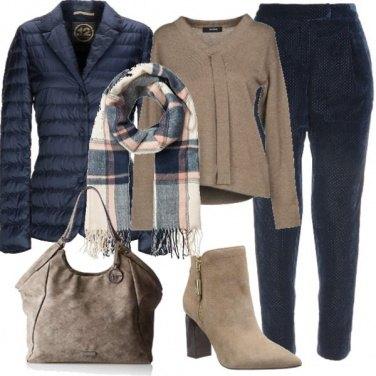 Outfit Piumino modello blazer