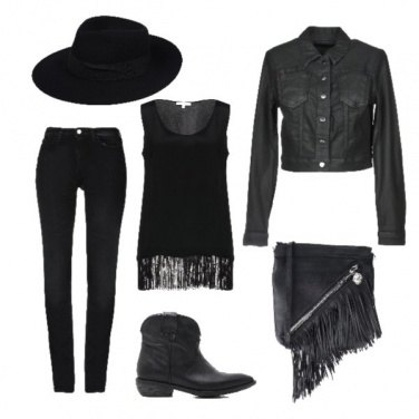 Outfit Frange e cappello