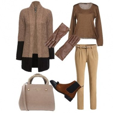 Outfit Cardigan e stivaletti