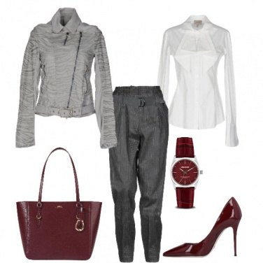 Outfit Basic in grigio