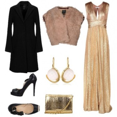Outfit Gold chic
