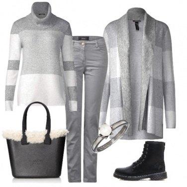 Outfit La delicatezza del grigio