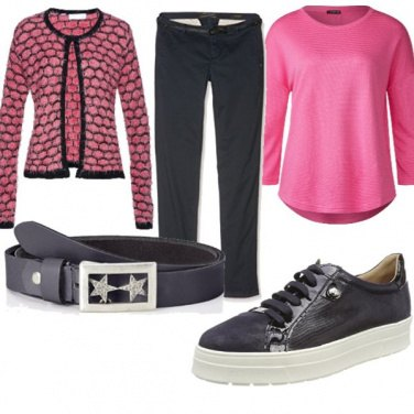 Outfit Rosa e stelle