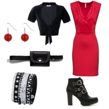 Outfit Natale chic rock