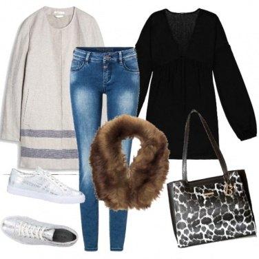 Outfit Collo di pelliccia