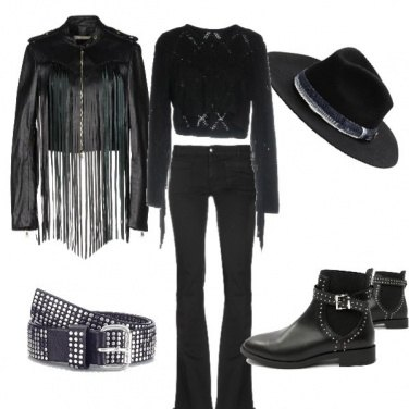 Outfit Black Cowgirl