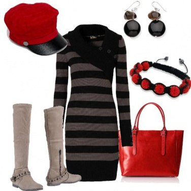 Outfit Berretto rosso Vip