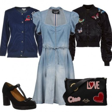 Outfit Ricami e jeans