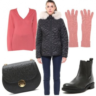 Outfit Basic con lo stivaletto basso