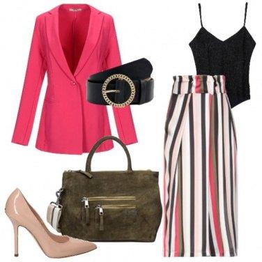 Outfit Blazer e cintura trendy