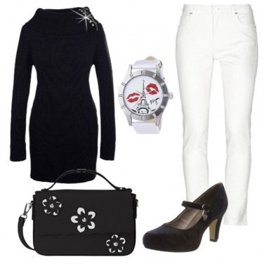 Outfit B/w per natale