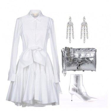 Outfit Bianco e Argento scendono in pista