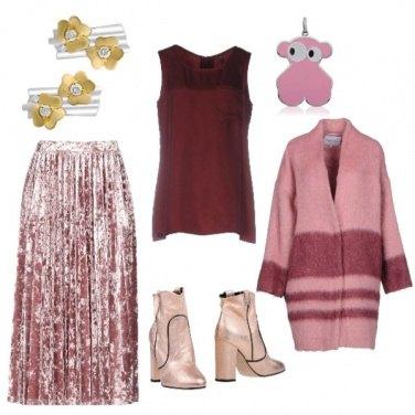 Outfit Velluto plissé