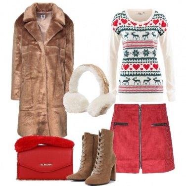 Outfit Pullover nordico e ecofur