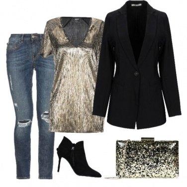 Outfit Il Capodanno in jeans