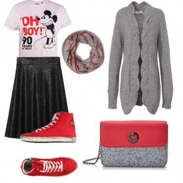Outfit Le sneakers rosse