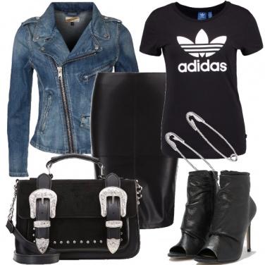Outfit Imprevedibile e rock