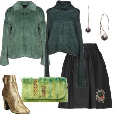 Outfit Sivaletti trendy color oro