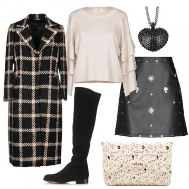 Outfit Gonna rock e cappotto bon ton