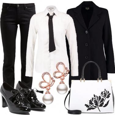 Outfit Mannish al lavoro
