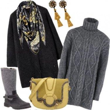 Outfit Un tocco di giallo nel cupo inverno